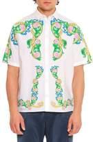 Versace Signature Miami-Printed Short-Sleeve Sport Shirt