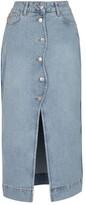 Thumbnail for your product : Ganni Denim midi skirt