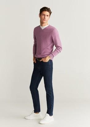 MANGO Structure cashmere cotton sweater