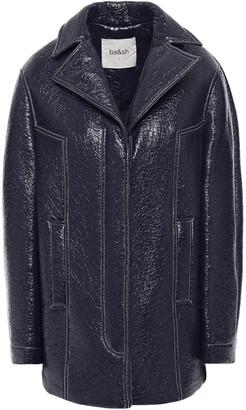 BA&SH Volupia Crinkled Glossed Faux Leather Jacket