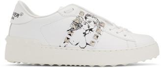 Valentino White Garavani Undercover Edition Kissing Couple Rockstud Sneakers