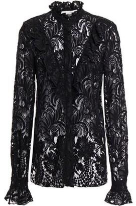 Stella McCartney Ruffled Wool-blend Lace Shirt