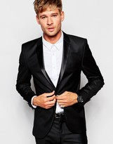 Selected Tuxedo Suit Jacket In Slim Fit