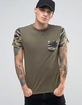 Diesel T-Diego-PKT T-Shirt Camo Pocket & Sleeves