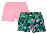 Wonder Nation Girls 4-18 & Plus Printed & Solid Woven Shorts, 2-Pack