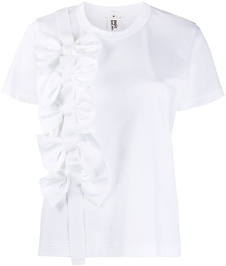 Comme des Garcons bow-front short sleeved T-shirt