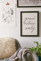Urban Outfitters Letters On Love Good Vibes Only Art Print