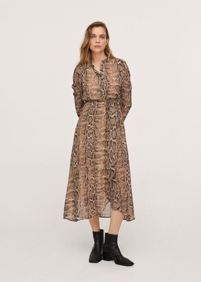 MANGO Snake print gown brown - 2 - Women