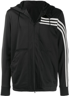 Y-3 Y 3 Three Stripe hooded track top