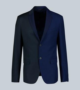 Fendi Paneled pinstripe wool tailored jacket