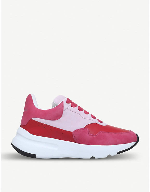 Alexander McQueen Runner leather and suede trainers