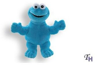 "Sesame Street Enesco Gund Cookie Monster Finger Puppet 5.5"" Puppets"
