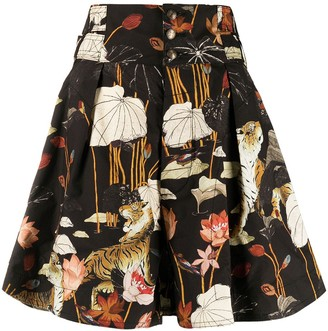 Etro Floral Print High-Waisted Shorts