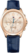 Tommy Hilfiger Women's Sophisticated Sport Navy Leather Strap Watch 36mm 1781703