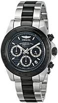 Invicta Men's Speedway Quartz Watch with Black Dial Chronograph Display and Multicolour Stainless Steel Bracelet 6934