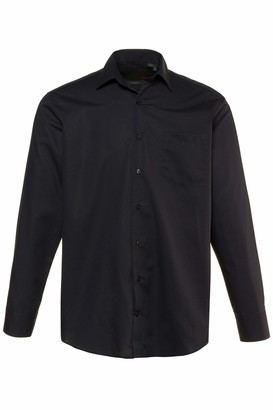 JP 1880 Men's Big & Tall Easy Care Formal Shirt Black XX-Large 713989 10-XXL