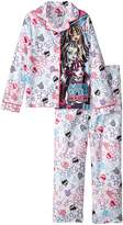 Monster High Big Girls' Coat Pajama Set with Panel