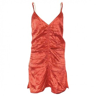 Helmut Lang Orange Viscose Tops