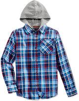 Tommy Hilfiger Yates Flannel Hooded Shirt, Big Boys (8-20)