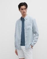 Club Monaco Slim Striped Linen Shirt