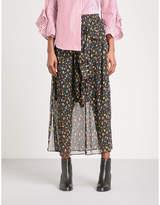 Mo&Co. Floral chiffon skirt
