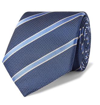 Canali 8cm Striped Silk Tie