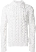 Salvatore Ferragamo cable-knit turtleneck jumper
