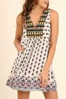 Umgee USA Print Pocket Dress