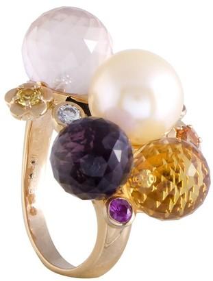 Heritage Chanel Chanel 18K Rose Gold Gemstone Ring
