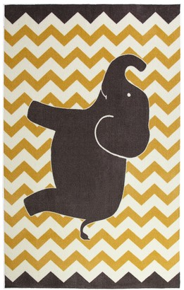 Mohawk Home Aurora Kids Interactive Lucky Elephant Wear-Dated Rug
