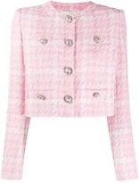 Alessandra Rich check-tweed cropped jacket