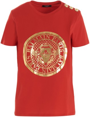 Balmain Coin Logo T-Shirt
