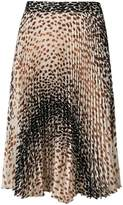 Marco De Vincenzo leopard print pleated skirt