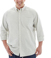 JCPenney THE FOUNDRY SUPPLY CO. The Foundry Supply Co. Easy-Care Mini-Check Oxford - Big & Tall