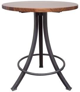 "John Boos Bistro Pedestal Round Table Size: 42"" H x 36"" W x 36"" D, Base Color: Wrinkle Black, Top Color: American Cherry"