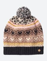 Fat Face Tasha Heart Fairisle Beanie
