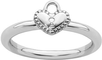 Simply Stacks Sterling Heart Locket Ring