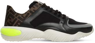 Fendi FF ALL OVER COTTON LOW TOP SNEAKERS