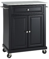 Crosley Portable Stainless Steel Top Kitchen Island Wood/Black