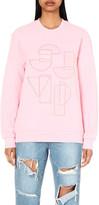 SteveJ & YoniP STEVE J & YONI P Embroidered-logo cotton-jersey sweatshirt