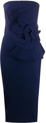 Le Petite Robe Di Chiara Boni Floral Bow Detail Midi Dress
