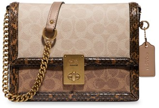 Coach Hutton Snakeskin, Leather & Signature Coated Canvas Crossbody Bag