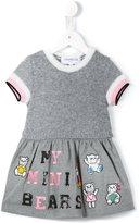 Simonetta teddy bear appliqué dress