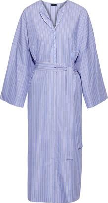Joseph Koda Belted Striped Cotton-poplin Midi Dress