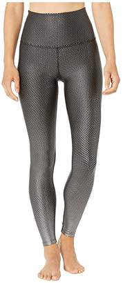 Beyond Yoga Spot On High-Waisted Midi Leggings (Black/Active Slate Spot On) Women's Workout