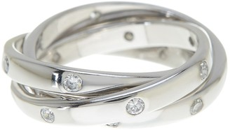 Sterling Forever Sterling Silver Triple Roll Etoile Ring
