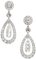 Cartier Paris Platinum Diamond Dangle Earrings