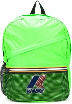 K Way Kids Fluorescent Logo Backpack