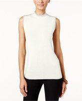 Alfani Mock-Neck Knit Shell, Only at Macy's