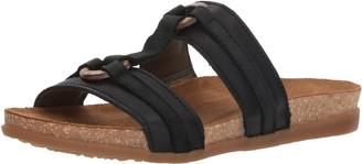 El Naturalista Women's NF49 Soft Grain-Pleasant Black/Zumaia Flat Sandal 37 Medium EU (7 US)